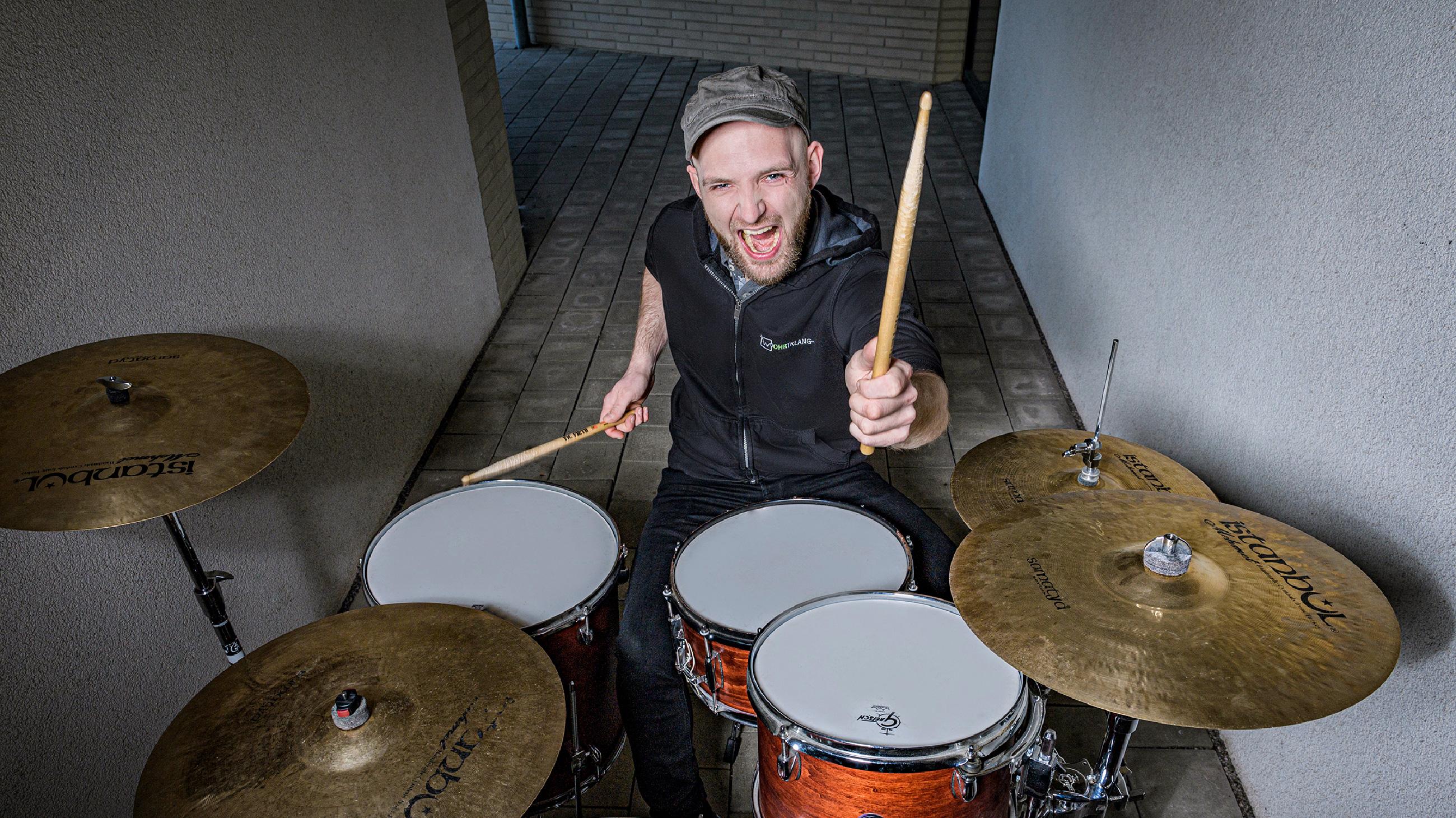 Sven Westbomke am Schlagzeug